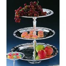 Romantica Collection Silver 3-tier Tray