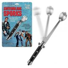 Switchblade Spork Novelty Gag Portable Lunch Tool