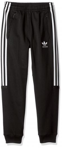 adidas Originals Big Boys' Challenger Track Pant, Black/White/Blue, M