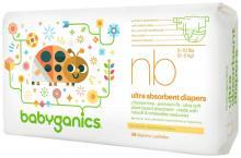 Babyganics Ultra Absorbent Diapers, Newborn, 36 Count