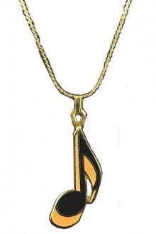 Eighth Note Necklace - Gold