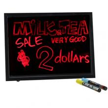"AGPtek® 16""x12"" LED Writing Board Menu Sign Board Erasable Neon Board With Marker Pen 8 Colors"