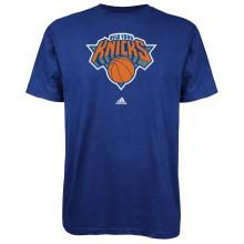 NBA Men's New York Knicks Short Sleeve T- Shirt (Blue, Small)