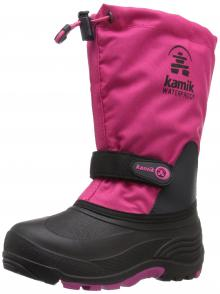 Kamik Girls' Waterbug5 Snow Boot, Rose, 9 Medium US Toddler