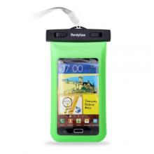 "DandyCase Neon Green Waterproof Case for Apple iPhone 5, Galaxy S4, HTC One, iPod Touch 5 - Also fits other Large Smartphones up to 5.3"" Including Galaxy S3, HTC One X/X+, Droid RAZR/MAXX, Nexus 4, EVO 4G LTE, Droid Incredible, LG Optimus G, Nokia Lumia,"