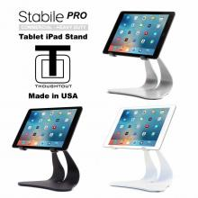 Thought Out Stabile PRO Adjustable iPad Stand Pro Air 2 12.9 9.7 Surface Galaxy Tablet Holder Pivoting Silver