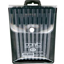 Copic Markers 9-Piece Multiliner Inking Pen Set B-2, Black (MLB2)