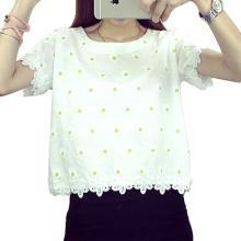 Floral Pullover Tops #8283 - WHITE