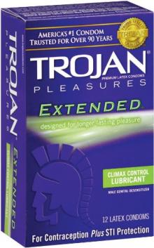 Trojan Extended Climax Control Lubricated Condoms, 12 Count