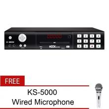 The Platinum Kool Sound K-BOX KS40 Karaoke Player (Black) 12000 songs with FREE KS-5000 Wired Microphone