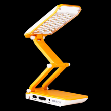 Firefly 36 LED Foldable Desk Lamp With Solar Charger (FEL713)