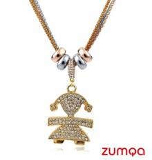 Fashionable Studded Little Girl Necklace by ZUMQA