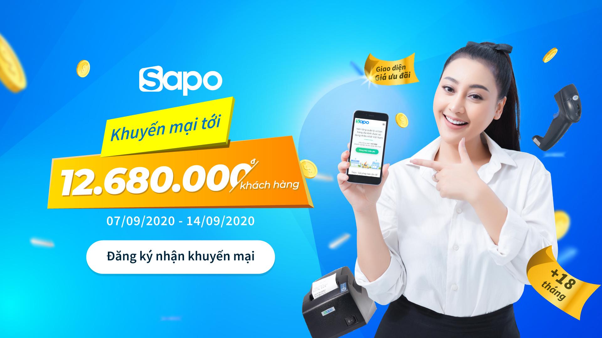 Chào Tháng 9: Sapo khuyến mại cực hấp dẫn cho các khách hàng mới