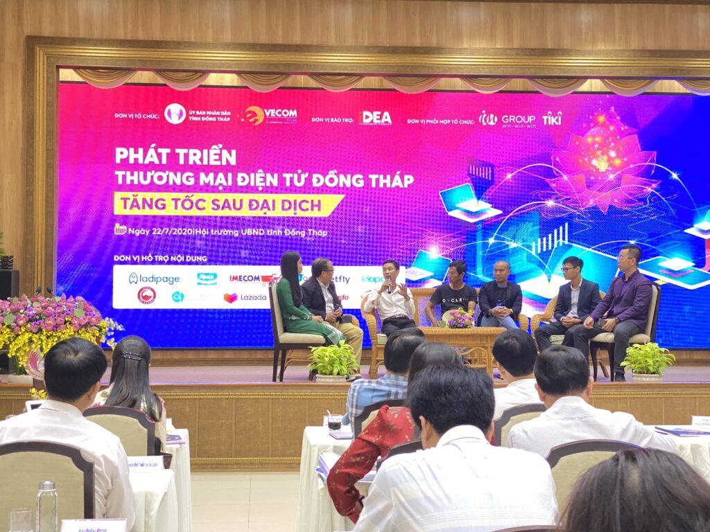 """Sapo đồng hành cùng VECOM tại hội thảo: """"Phát triển thương mại điện tử Đồng Tháp - Tăng tốc sau Covid - 19"""""""