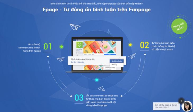 Bổ sung tính năng hệ thống báo cáo Fanpage trên Sapo