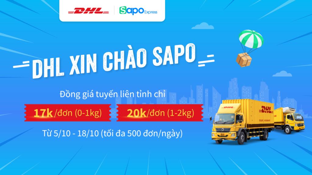 Ra mắt đơn vị vận chuyển DHL tại Sapo - Giao hàng siêu tiết kiệm chỉ từ 17.000đ