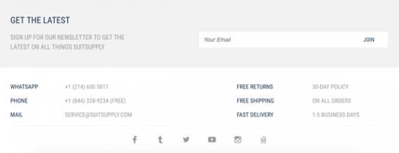 Trình bày gì tại chân trang khi thiết kế website bán hàng? (P2)