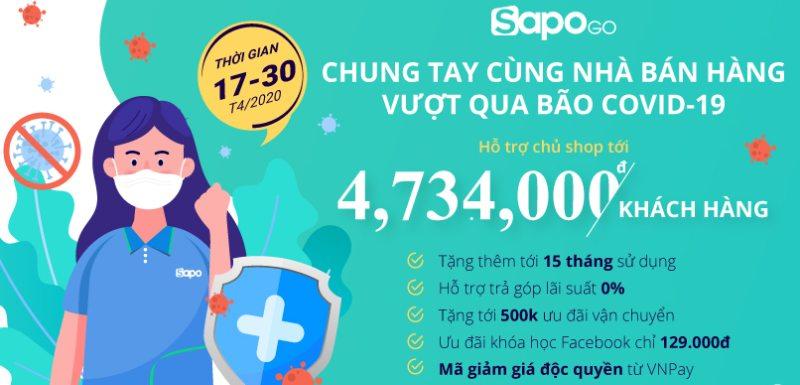 Sapo GO khuyến mại khủng cho nhà bán hàng trên Sàn TMĐT và Facebook