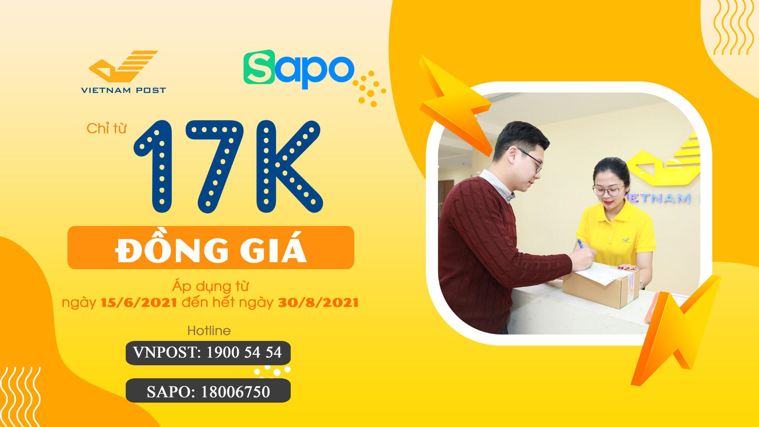 VIETNAM POST x SAPO – Deal đồng giá Hot nhất Tháng 6