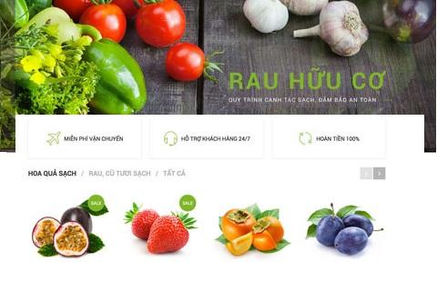 12 mẫu thiết kế website nhà hàng, thiết kế website thực phẩm đẹp nhất Sapo Web