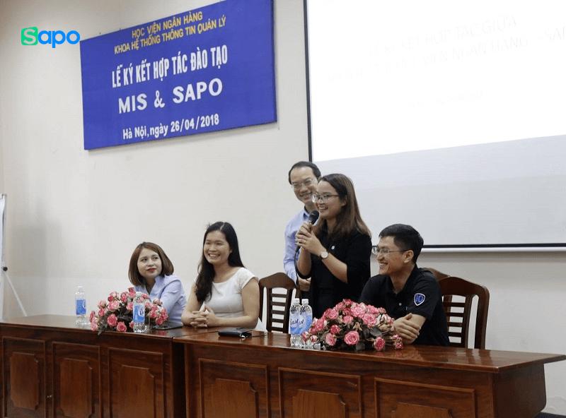 Sapo hỗ trợ nền tảng thực hành thương mại điện tử cho sinh viên Học viện Ngân hàng