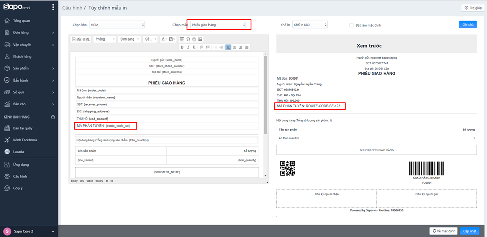 [Sapo Update]: Sapo Express bổ sung nhiều tính năng mới hữu ích cho chủ shop