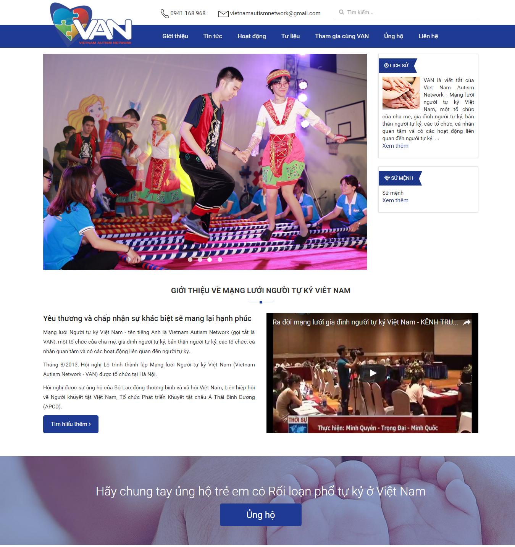 Website thiện nguyện số 4 và câu chuyện đi tìm hạnh phúc cho trẻ tự kỷ