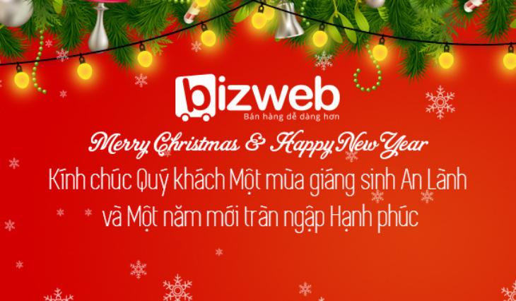 Bizweb gửi lời chúc tới Quý khách hàng nhân dịp Giáng sinh và Năm mới 2015