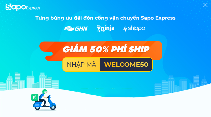 Ra mắt Sapo Express trên Sapo Web: Giảm ngay 50% phí ship
