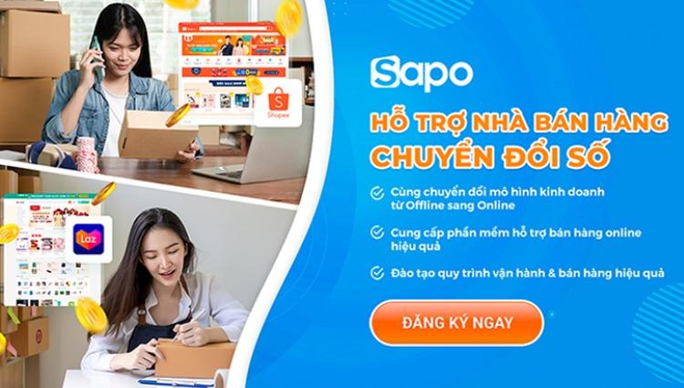 Sapo hỗ trợ gói chuyển đổi số cho chủ shop bán hàng offline