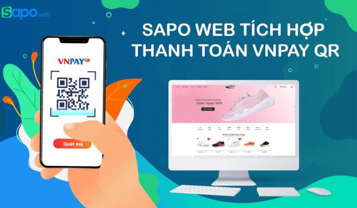Sapo Web tích hợp cổng thanh toán VNPAY-QR Code siêu tiện ích