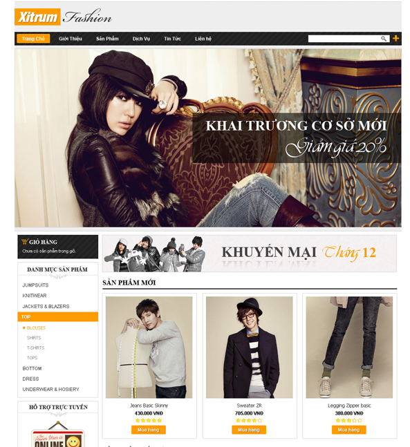 Thiết kế website thời trang độc đáo chỉ có tại Bizweb