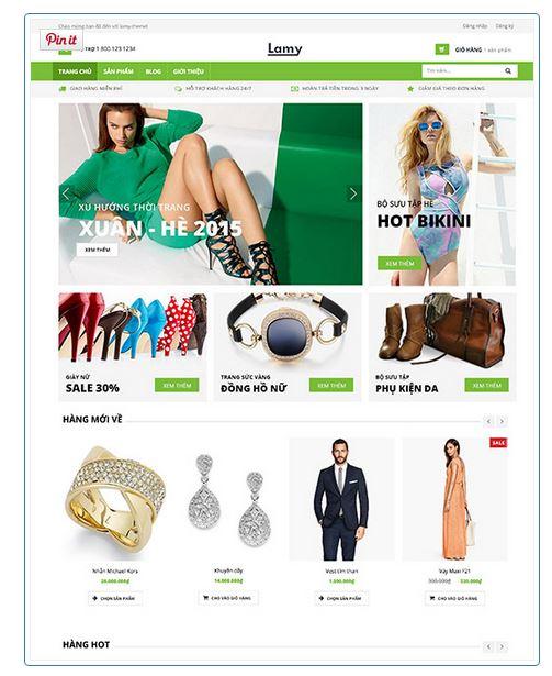 Thiết kế website bán quần áo online - Doanh thu tăng gấp 2!
