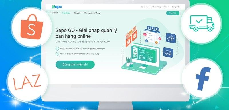 Tool quản lý facebook fanpage Sapo GO giúp bán hàng online dễ dàng hơn