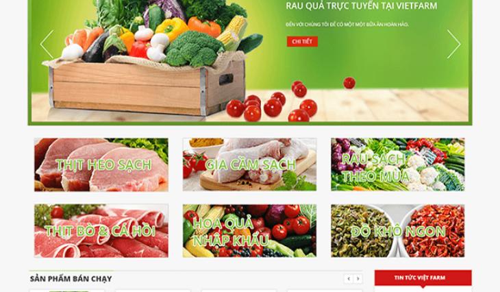 Thiết kế web thực phẩm sạch – tạo dựng lòng tin nơi người tiêu dùng