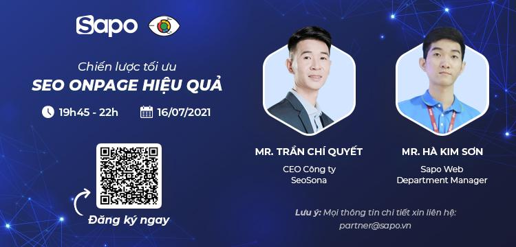 """Sapo đồng hành cùng SEO SONA tổ chức workshop online: """"Chiến lược tối ưu SEO Onpage hiệu quả"""""""
