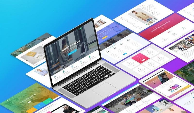 thiết kế website theo mẫu có sẵn sapo web