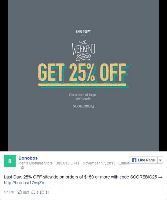 sử dụng Facebook để cung cấp giảm giá kịp thời