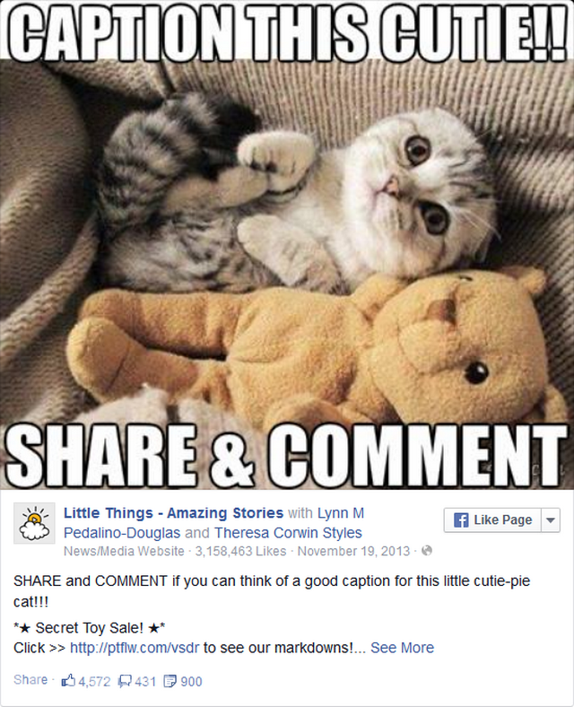sử dụng Facebook để tổ chức cuộc thi viết chú thích