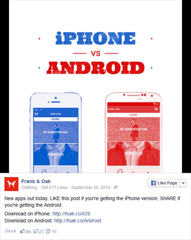 sử dụng Facebook để đưa ra chủ đề phân cực