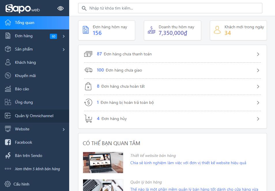 quản trị website dễ dàng với sapo web