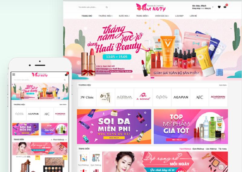 thiết kế web bán mỹ phẩm Ant Nuty
