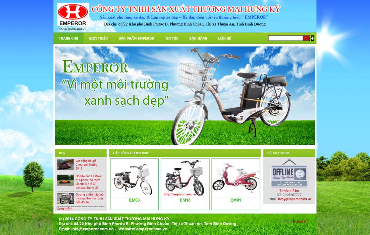 Đối tác tin tưởng và lựa chọn dịch vụ thiết kế website Bình Dương cho sản phẩm xe đạp điện