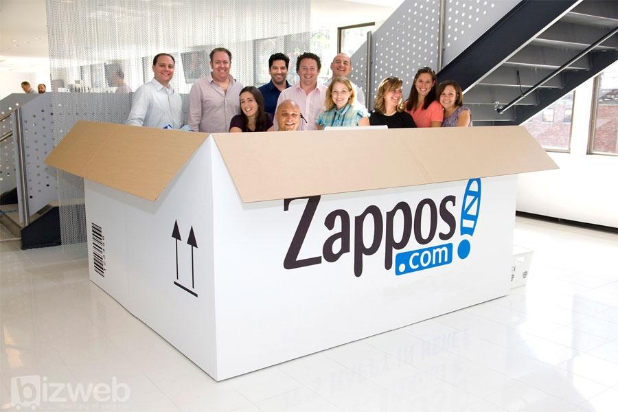Zappos là một trong những thương hiệu có dịch vụ khách hàng xuất sắc