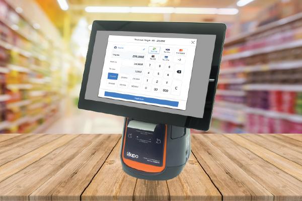 máy tính tiền tích hợp phần mềm quản lý nhà hàng
