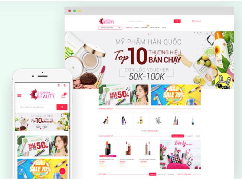 Thiết kế website bán mỹ phẩm Tl-cosmetics