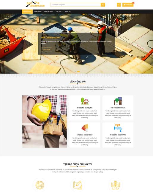 Mẫu website Ant Construction