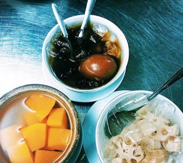 bán đồ ăn vặt cho học sinh với chè bánh lọt đặc sản miền trung