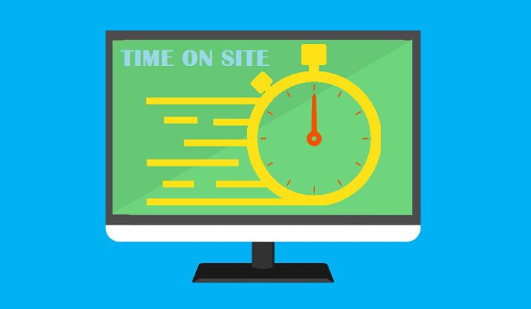 Chỉ số Time on site (Thời gian trên trang) trong báo cáo Analytics