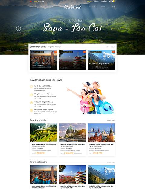 Web du lịch đẹp Bee Travel